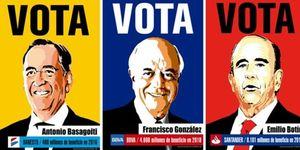 Foto: Francisco González, Basagoiti, Botín... los 'candidatos' del movimiento 15M en Madrid