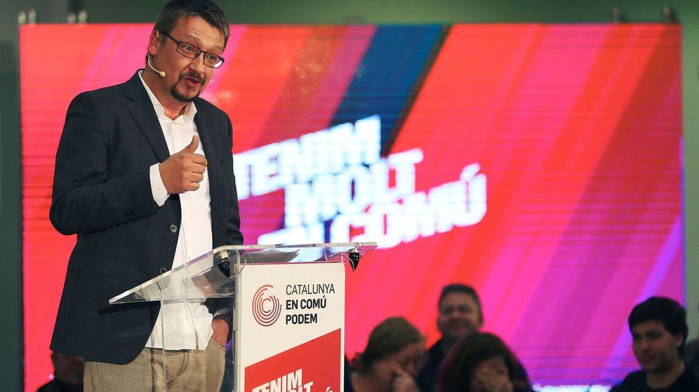 Foto: El candidato por Catalunya en Comú-Podem, Xavier Domenech. (EFE)