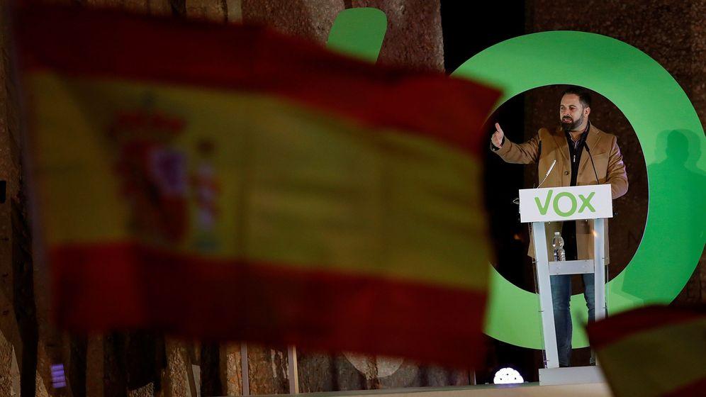 Foto: El líder de Vox, Santiago Abascal, en un acto público en diciembre. (EFE)