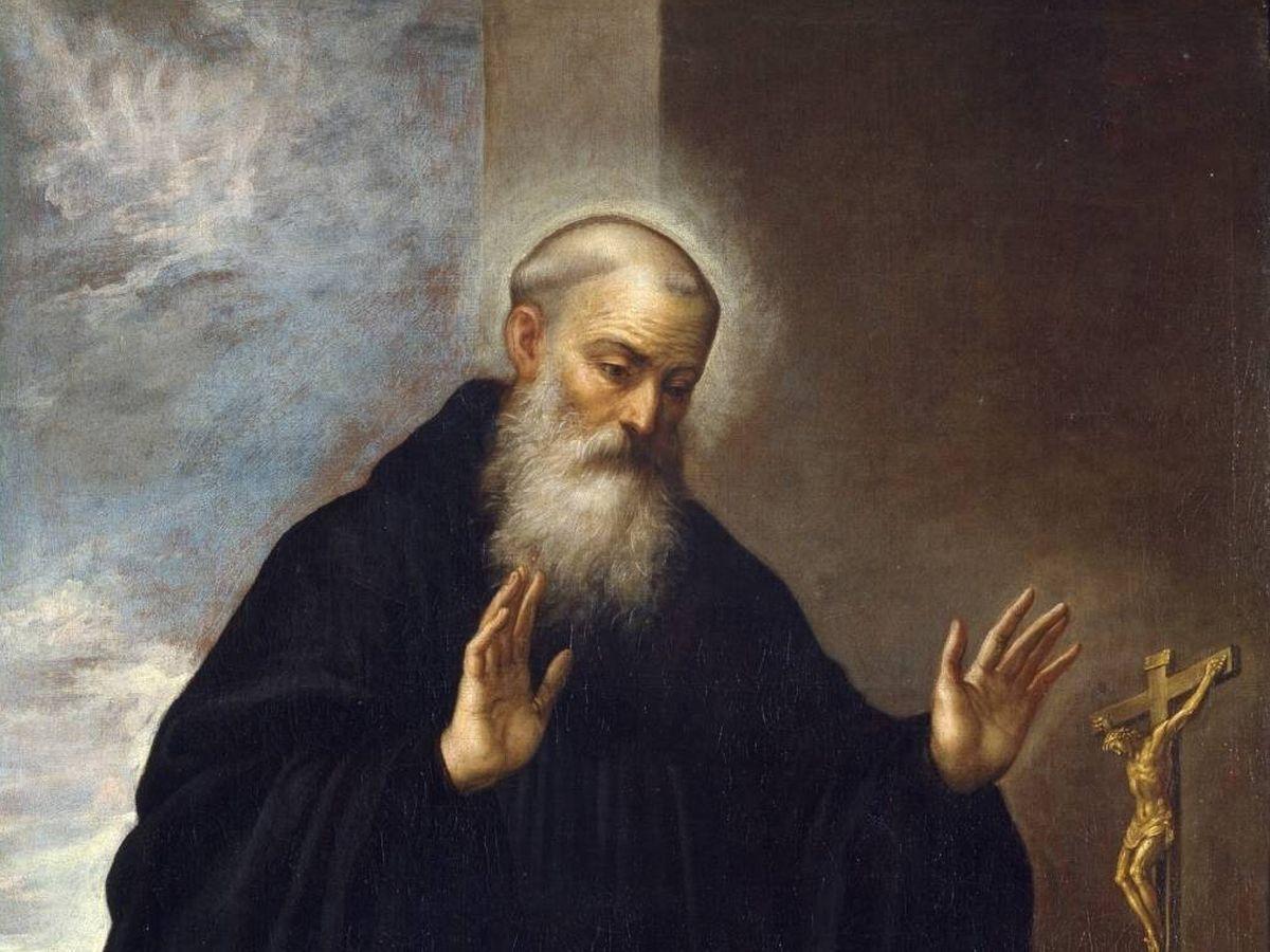 Foto: Representación de San Pedro Celestino, papa, según el pintor Bartolomé Román (Museo del Prado)