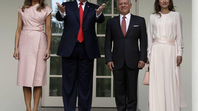 Melania Trump, Donald Trump, Abdalá II y Rania de Jordania. (Gtresonline)