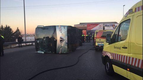 El conductor del autobús escolar volcado en Fuenlabrada da positivo por cocaína