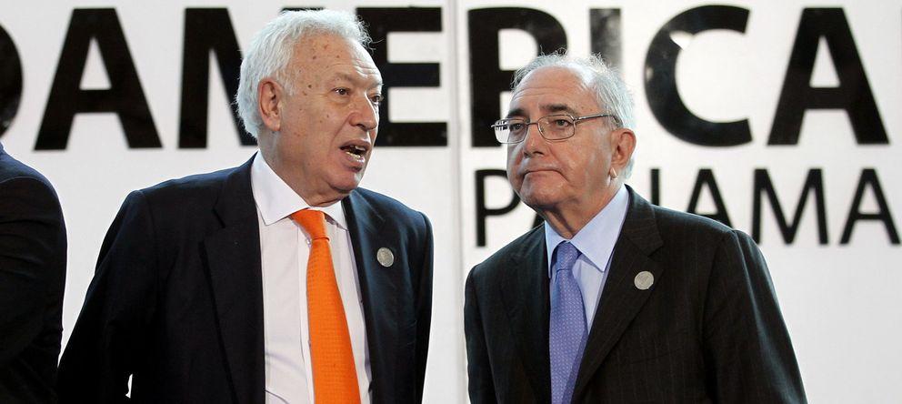 Foto: El ministro José Manuel García-Margallo (centro), con su colega portugués, Rui Machete (Efe)