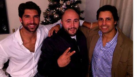 Los hermanos Francisco, Cayetano y Kiko Rivera, reunidos en Navidad