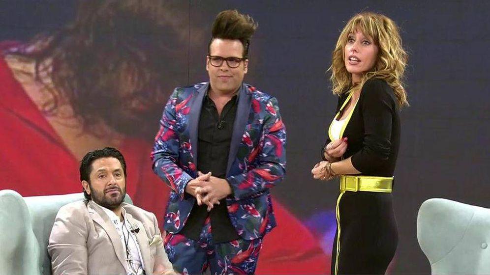 Foto: Rafael Amargo, Torito y Emma García, en 'Viva la vida'. (Telecinco).
