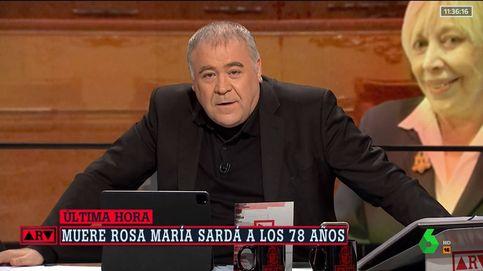 Ferreras despide visiblemente emocionado a Rosa María Sardà