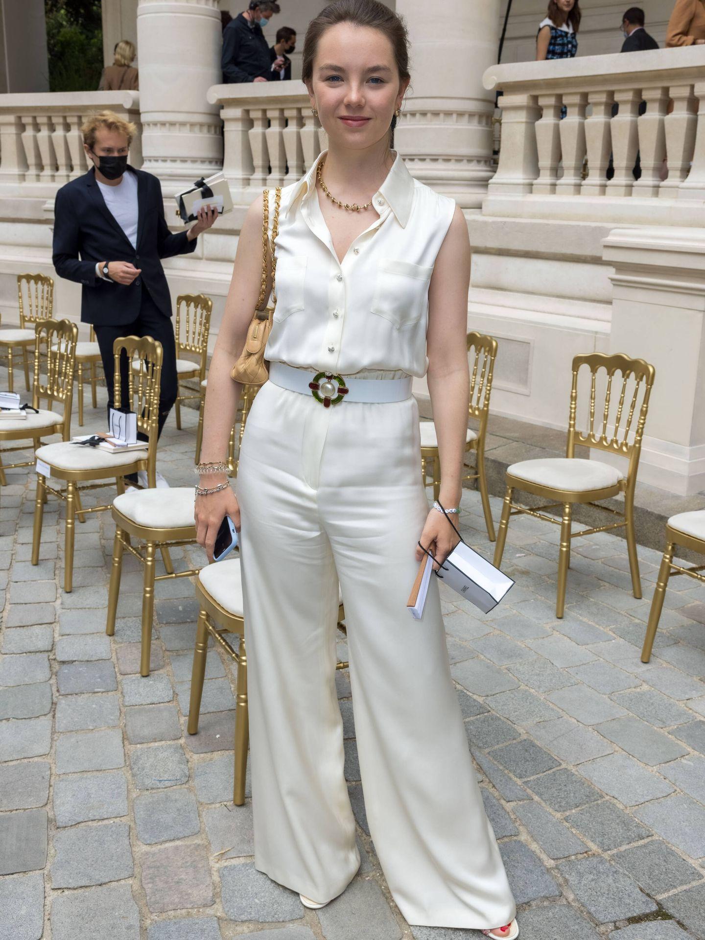 Alexandra de Hannover, en el desfile de Chanel. (Getty)