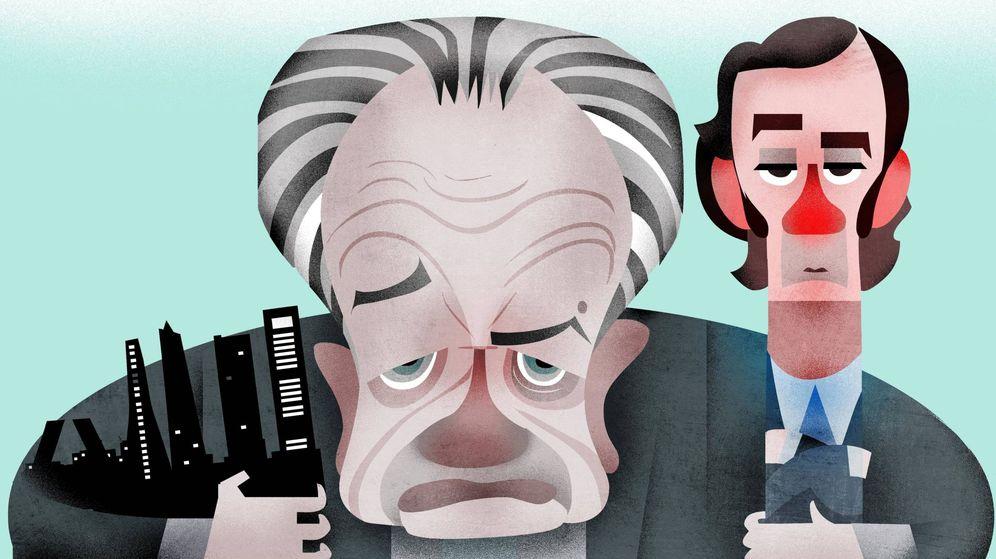 Foto: Juan Miguel Villar Mir y su hijo, Juan Villar-Mir de Fuentes. (Ilustración: Raúl Arias)