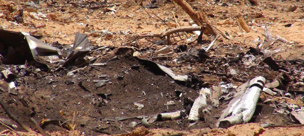 Foto: Los restos del avión de Air Algérie. (EFE)