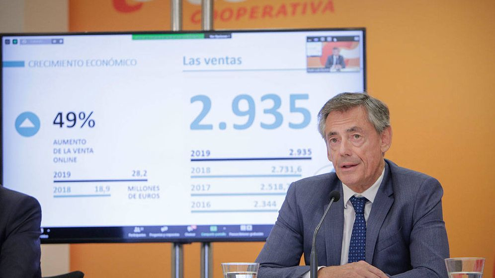 Foto: Juan Luis Durich, director general de Consum, en la presentación de resultados del ejercicio de 2019.