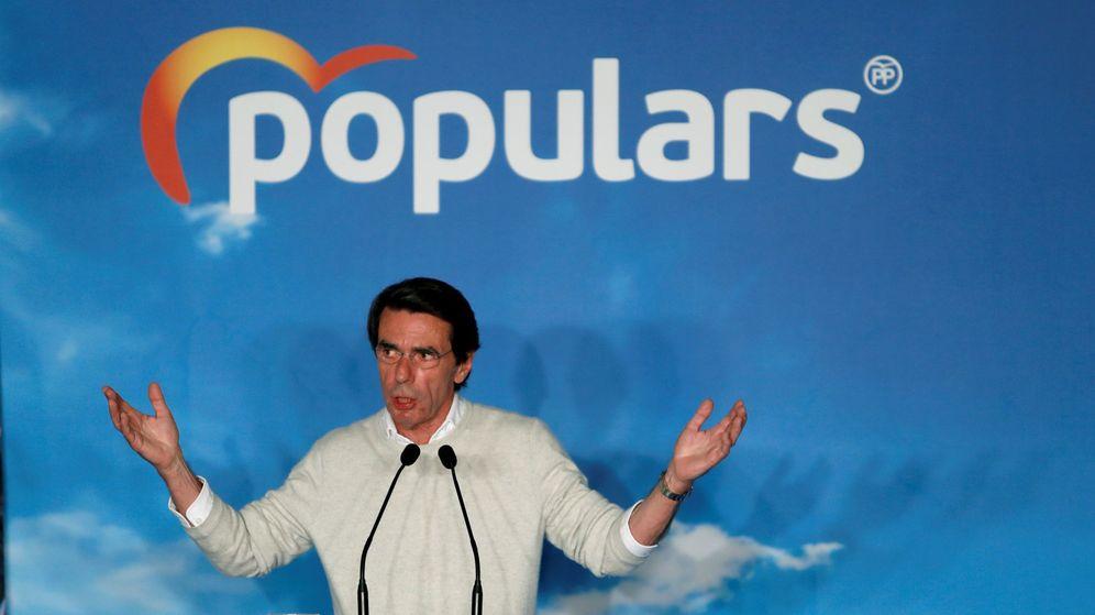 Foto: José María Aznar en un acto del PP en Barcelona (Efe)