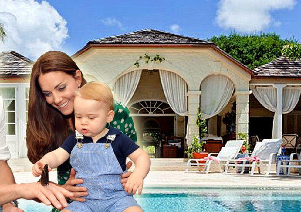 Foto: Catalina y Guillermo de Cambridge junto a su hijo, el príncipe Jorge