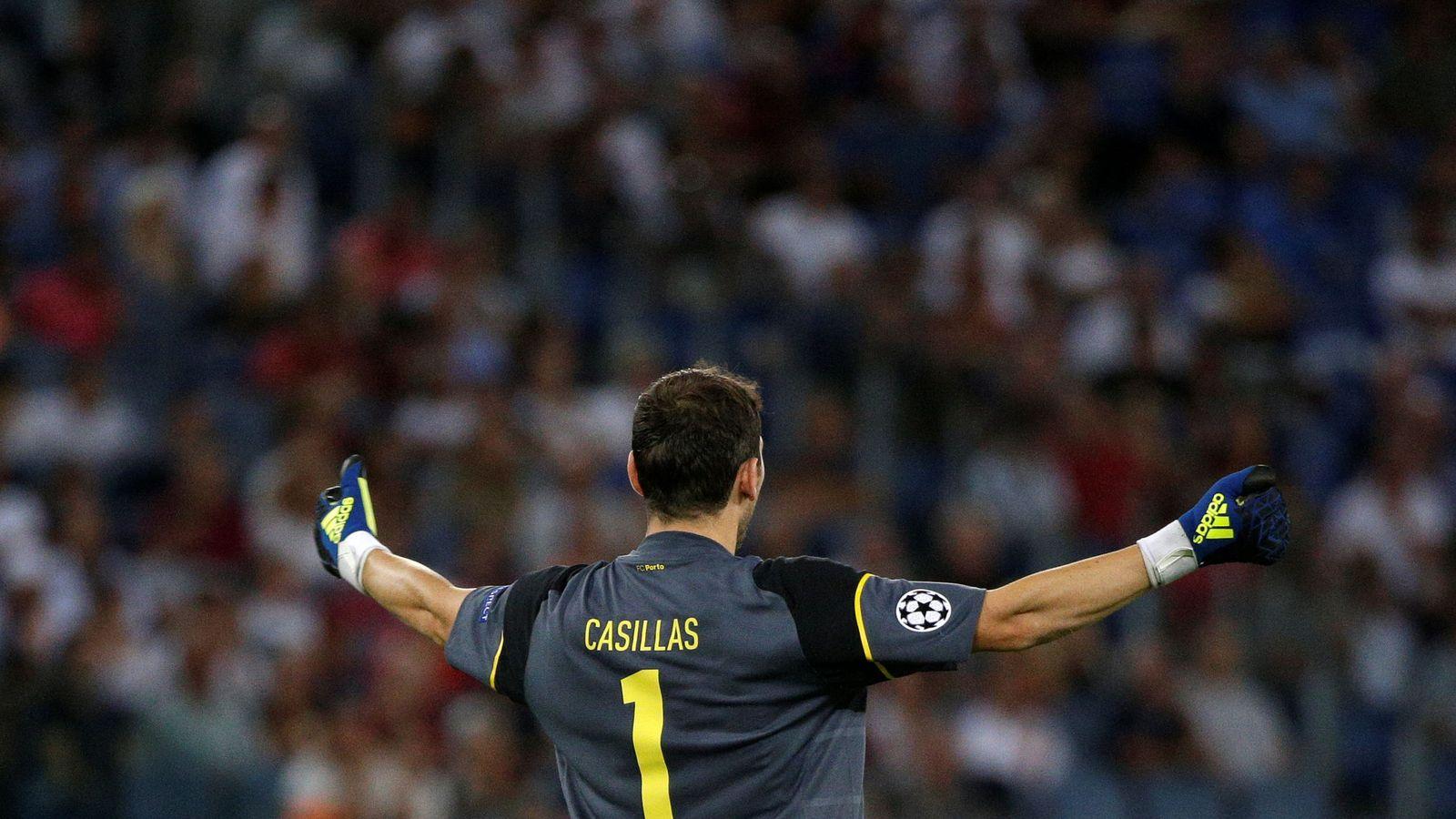 Foto: Casillas, en el partido de Champions contra la Roma. (REUTERS)