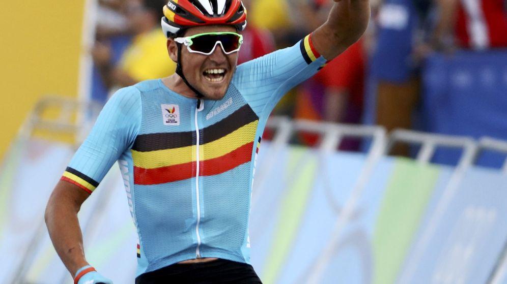 Foto: Greg van Avermaet celebra su victoria en Río (Paul Hanna/Reuters).