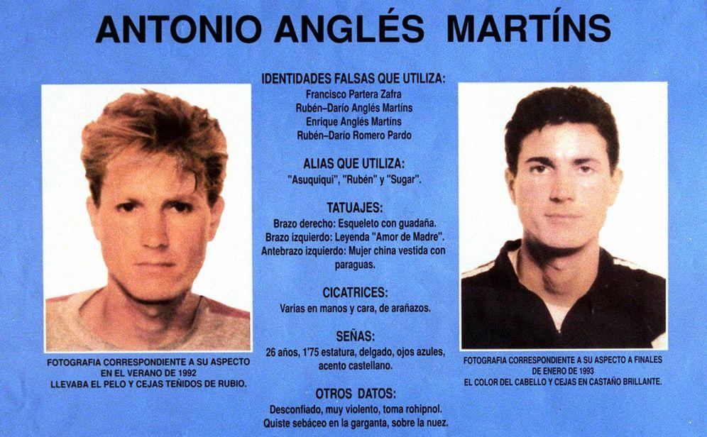 Foto: Ficha policial de Antonio Anglés.
