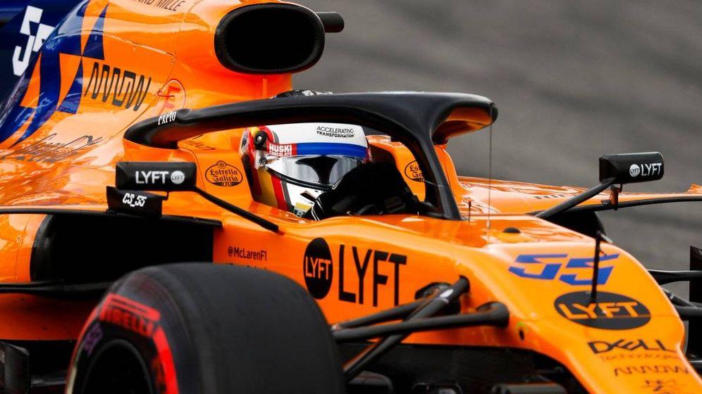 Foto: Sainz fue superado en entrenamientos por primera vez por su compañero en un GP de España. (McLaren)
