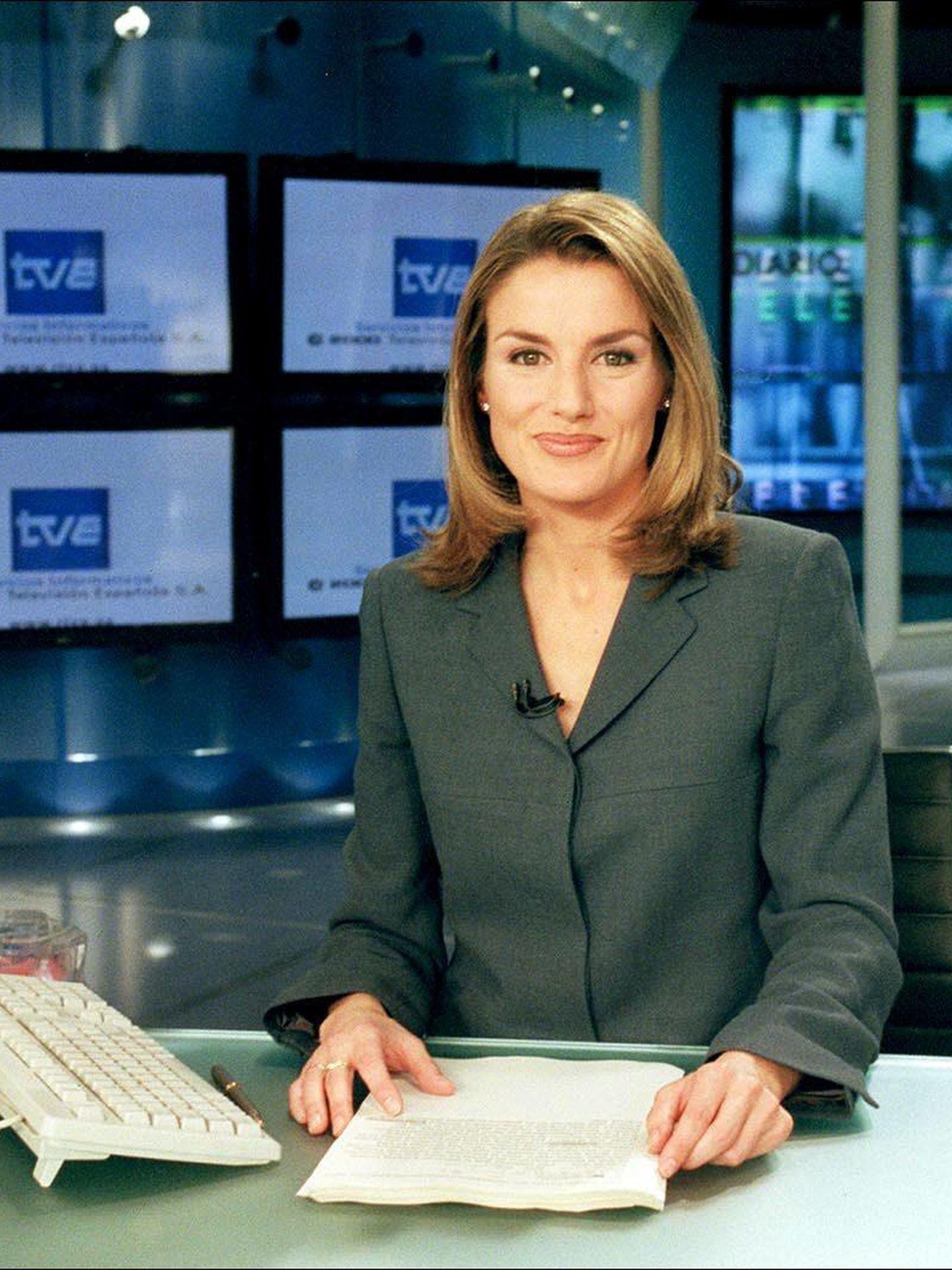 Letizia Ortiz, en el Telediario de Televisión Española. (Gtres)