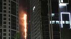 La torre Antorcha de Dubai se incendia por segunda vez