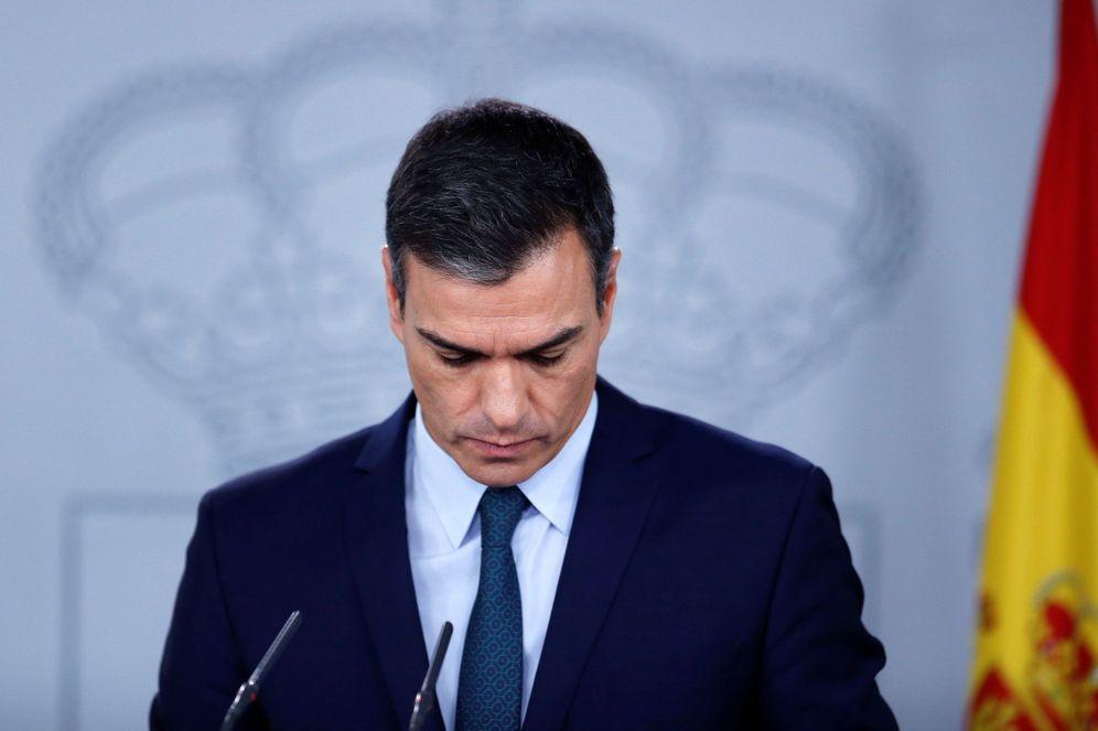 Foto: El presidente en funciones y líder del PSOE, Pedro Sánchez, el pasado 14 de noviembre en la Moncloa. (EFE)