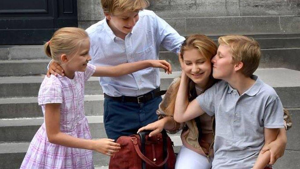 Las emotivas fotos de Elisabeth de Bélgica al marcharse a Inglaterra a estudiar