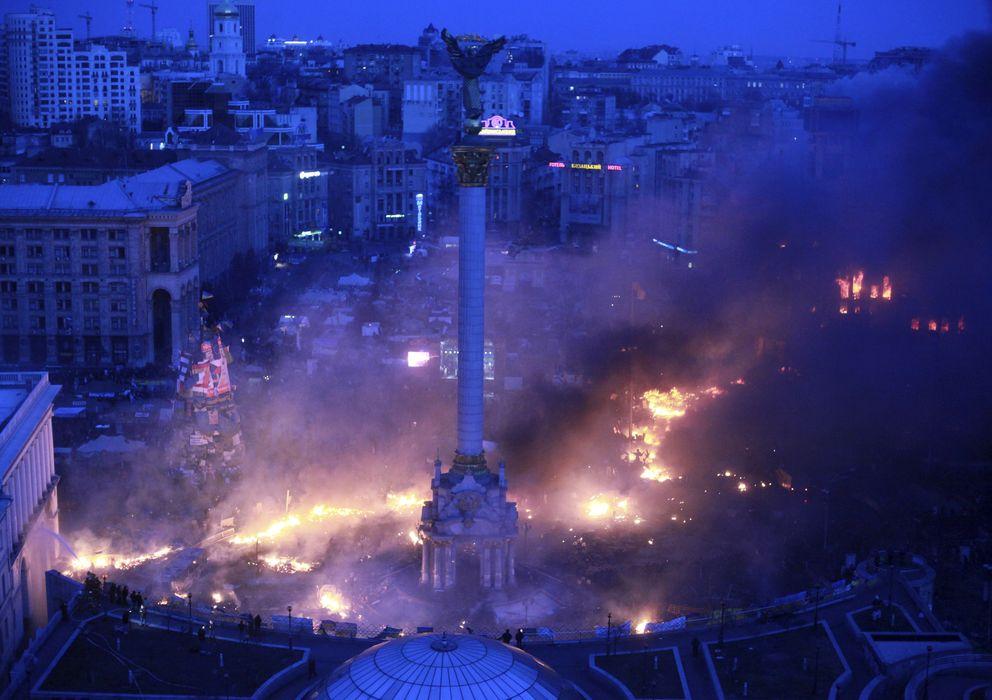 Foto: La plaza de la Independencia en Kiev, Ucrania (Reuters)