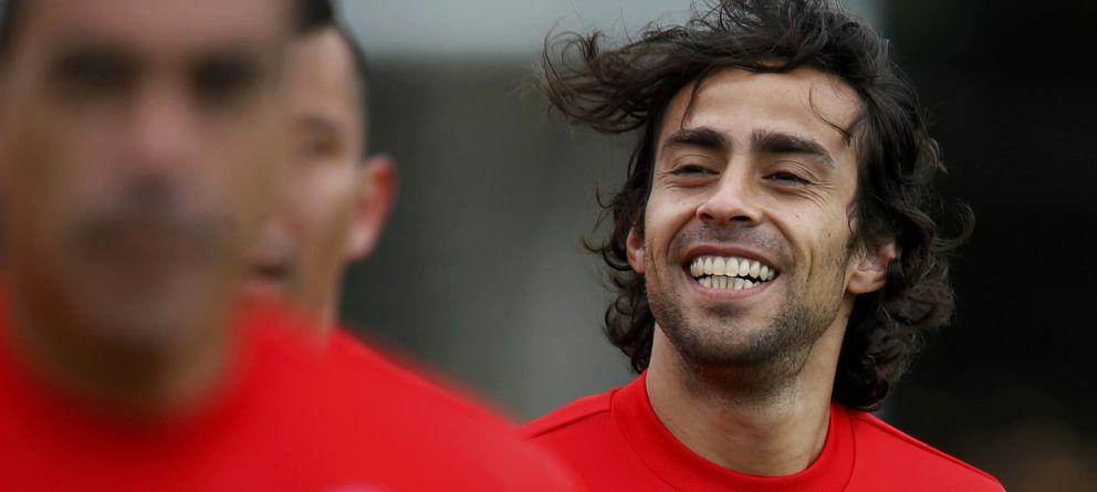 Foto: Jorge Valdivia, durante un entrenamiento con la selección de Chile (EFE)