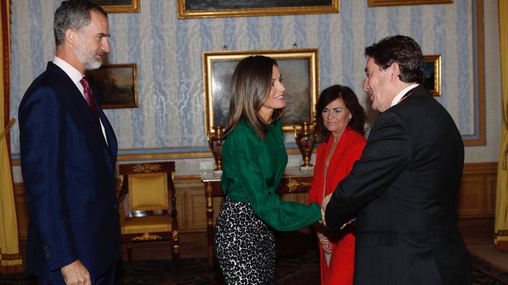 La reina Letizia saca su lado animal en el palacio de Aranjuez