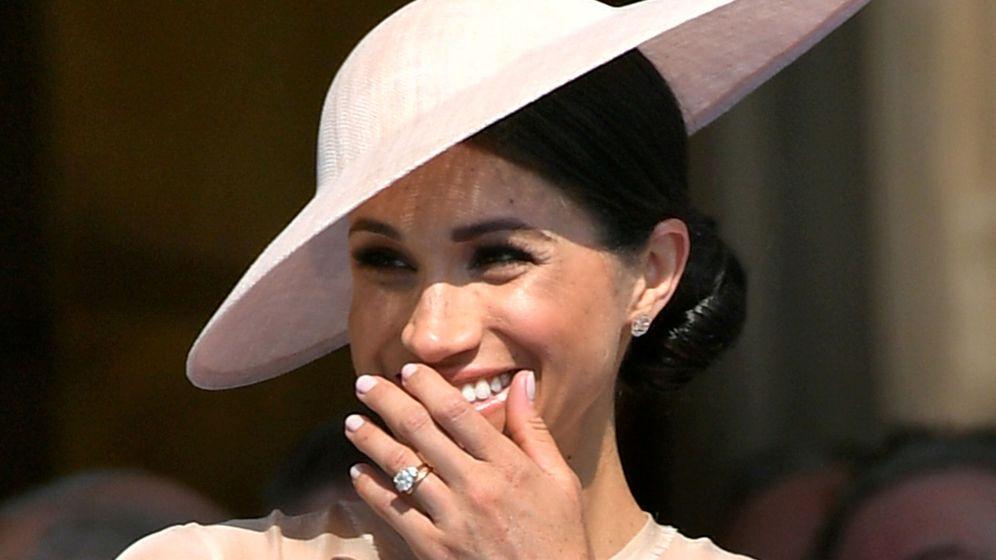 Foto: Meghan Markle con su anillo de compromiso en una imagen de archivo. (Reuters)