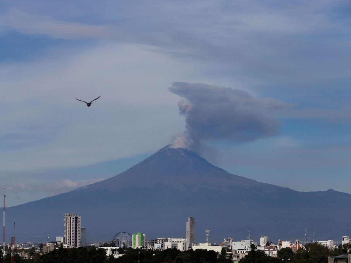 Foto: Fotografía del volcán Popocatépetl (EFE/Hilda Ríos)