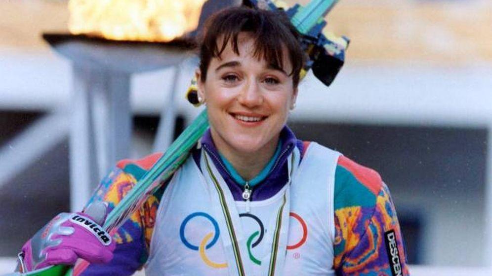 Foto: Blanca Fernández Ochoa posa durante los Juegos