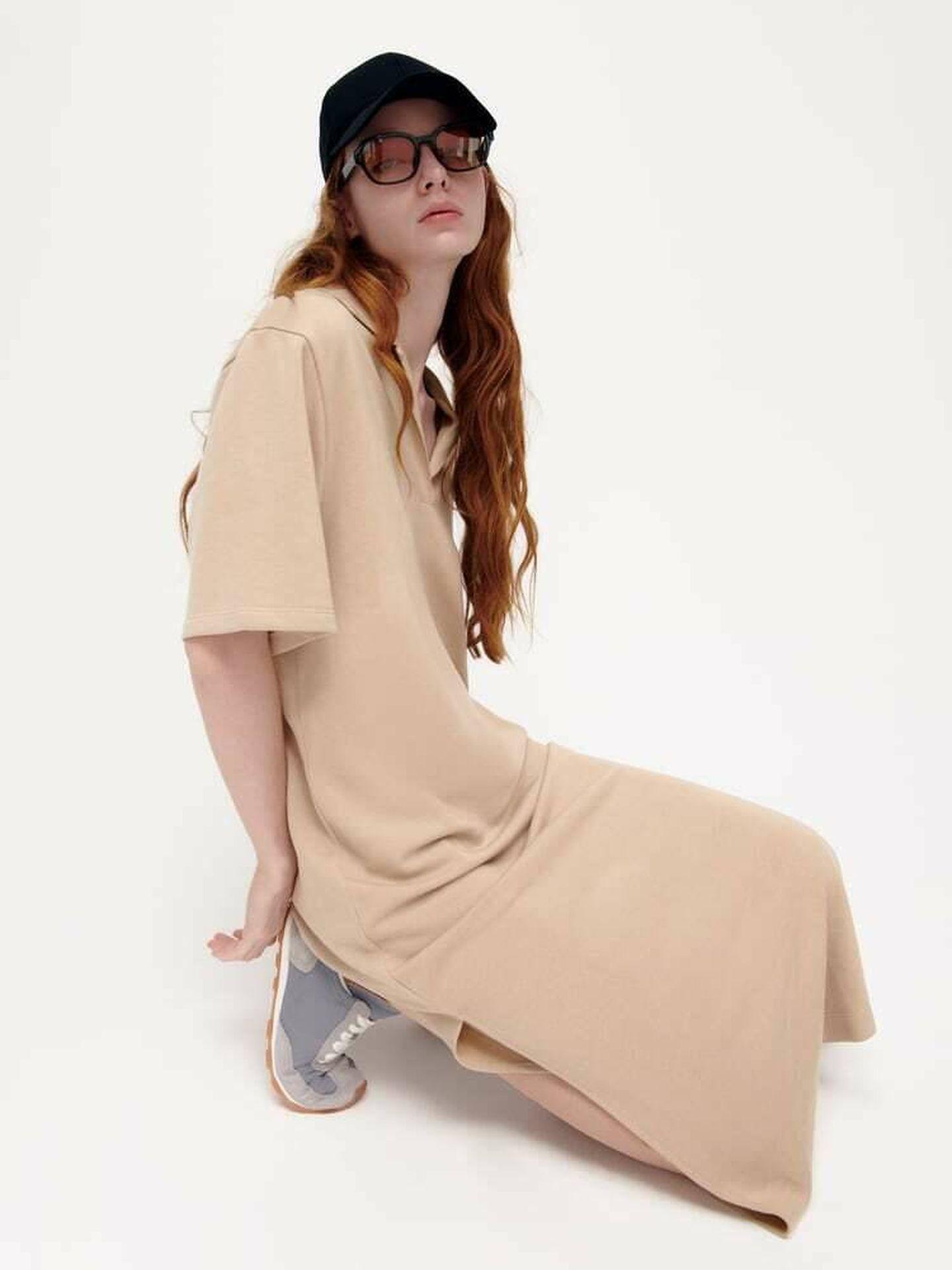 El nuevo vestido de Zara de color beige. (Cortesía)