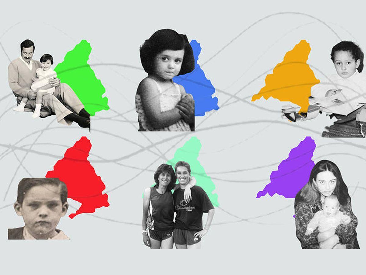 Foto: Los candidatos del 4-M, de niños. (Vanitatis)
