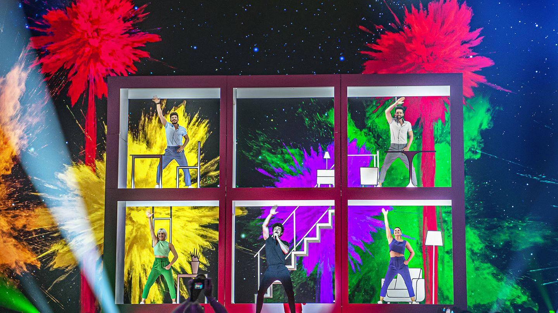 La estructura de la actuación de Miki en Tel Aviv. (RTVE)