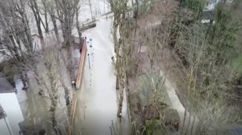 Estos adolescentes franceses surfean el Sena tras las inundaciones