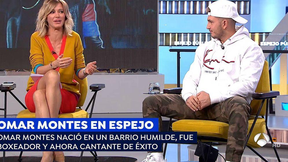 Foto: Susanna Griso y Omar Montes en 'Espejo público'. (Atresmedia Televisión)