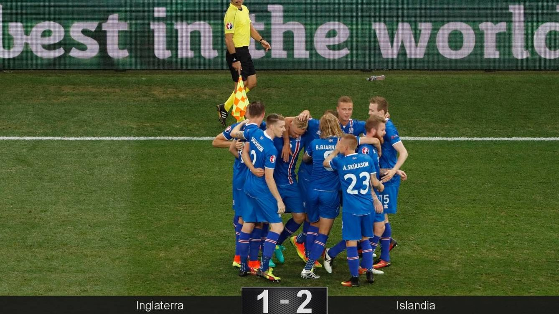 Foto: Los islandeses celebran un tanto.