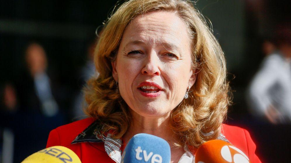Foto: La ministra de Economía en funciones, Nadia Calviño, en una reunión del Ecofin. (EFE)