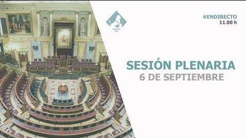Siga en directo la sesión plenaria en el Congreso