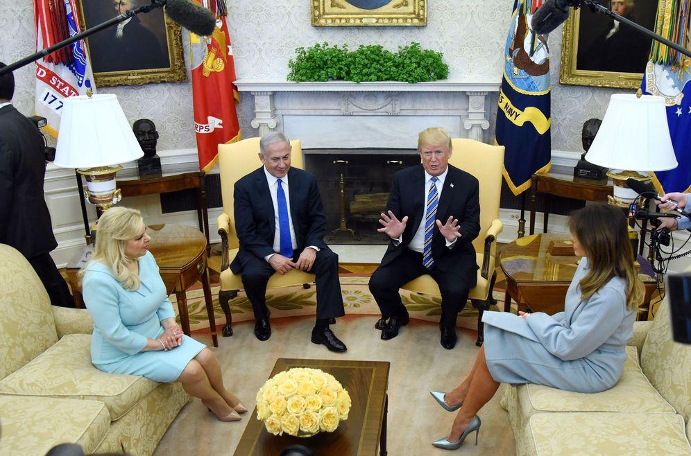 Foto: El presidente estadounidense, Donald Trump, recibe al primer ministro israelí, Benjamín Netanyahu en la Casa Blanca. (EFE)