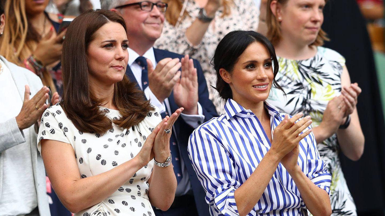 Meghan y Kate, en Wimbledon. (Getty)