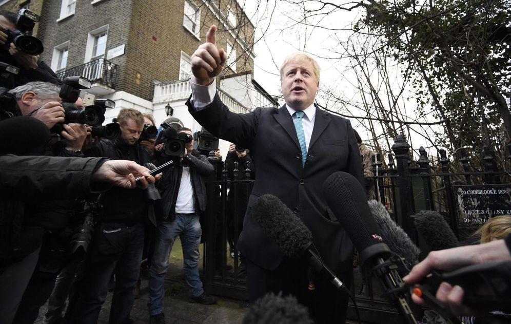 Foto: El alcalde de Londres, Boris Johnson, se dirige a la prensa para anunciar que hará campaña a favor del 'Brexit', en Londres, el 21 de febrero de 2016. (EFE)