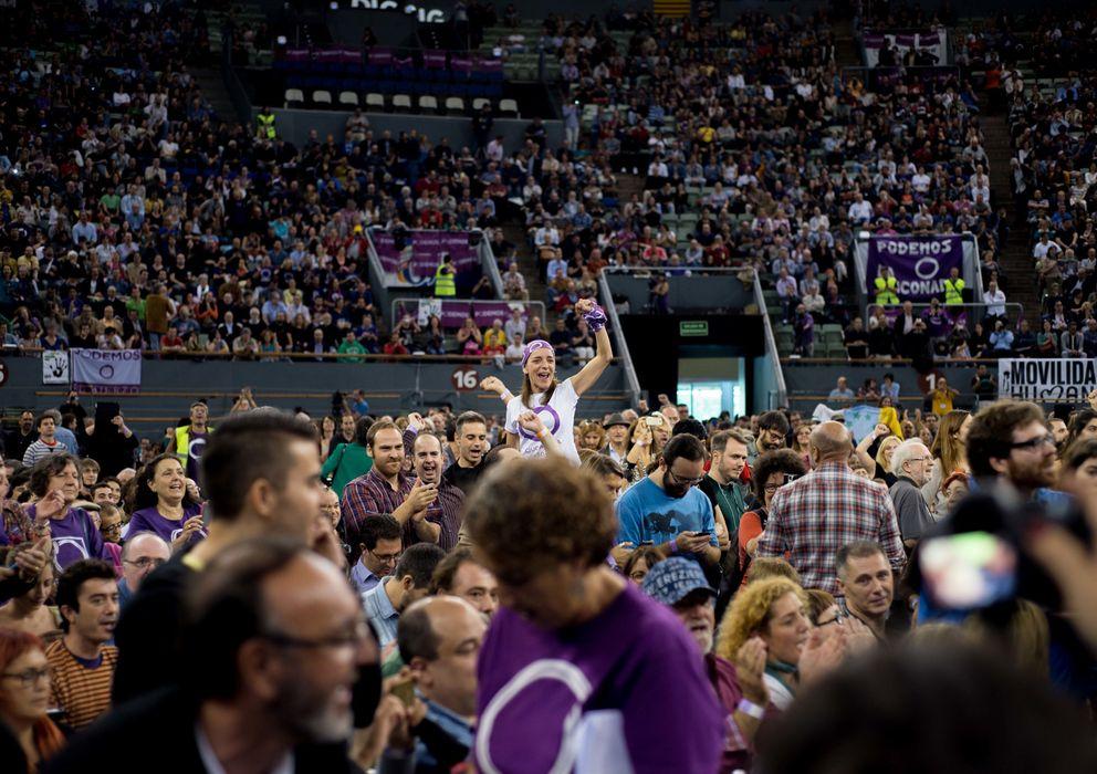 Foto: Asamblea ciudadana de Podemos en Vistalegre
