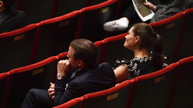 Victoria y Daniel, en la Sala de Conciertos de Estocolmo. (Cordon Press)
