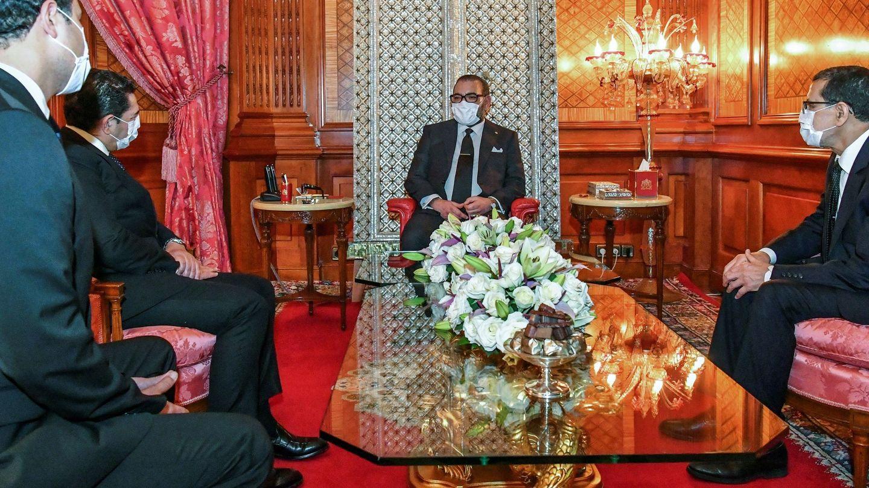 Mohamed VI de Marruecos presidiendo una ceremonia en Palacio. (EFE)