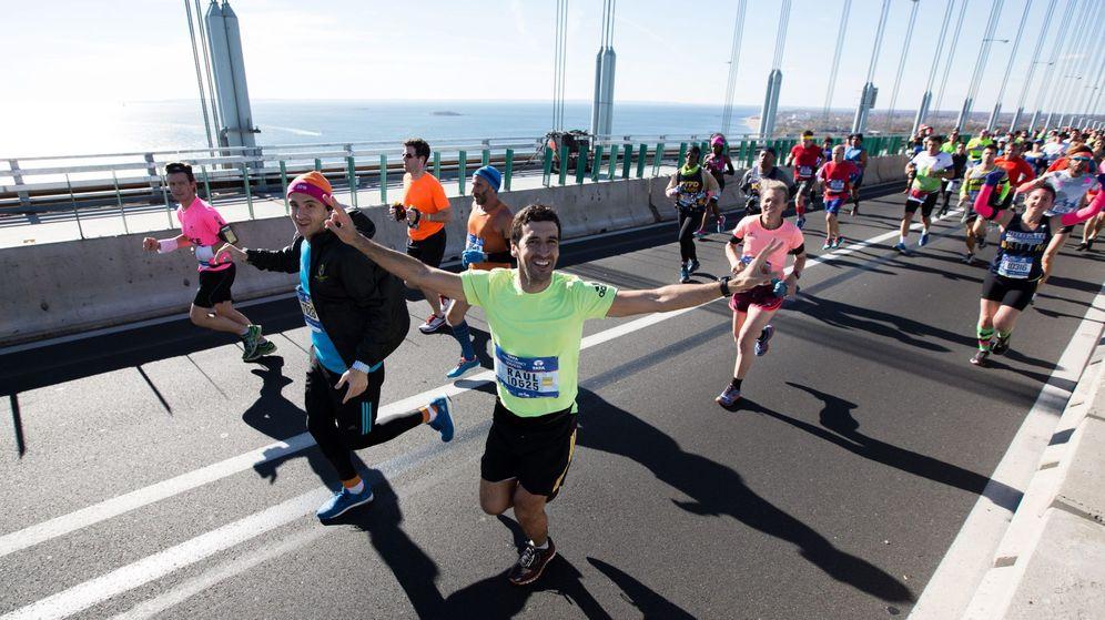 Foto: Raúl, en el inicio de la carrera. (EFE)