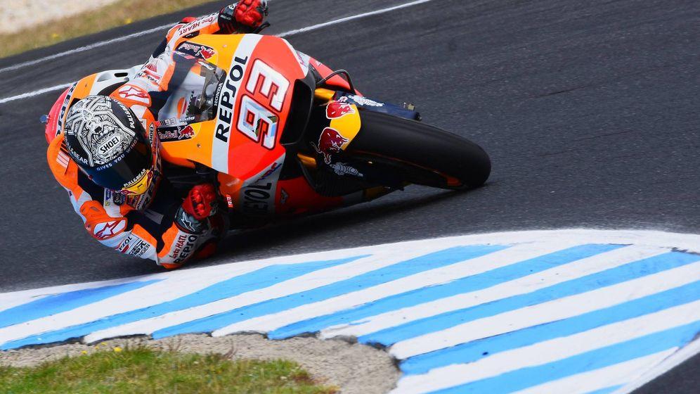 Foto: El piloto de Honda Marc Márquez, el rival a batir, hace unos días en Australia.
