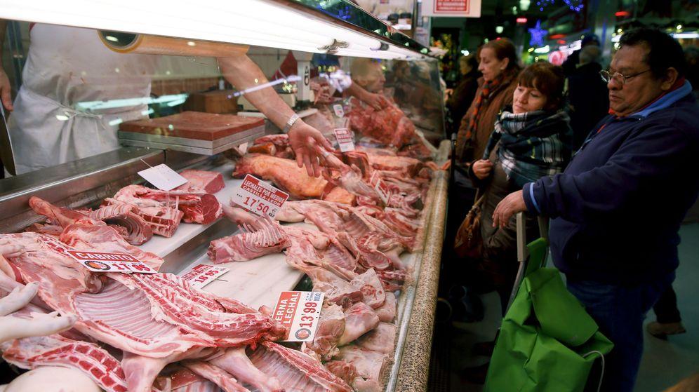 Foto: Carnicería en un mercado. (EFE)