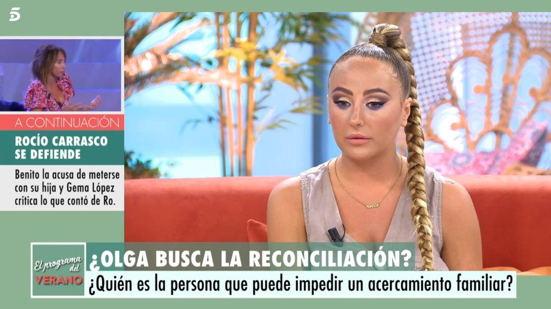 Rocío Flores en 'El programa de Ana Rosa'. (Mediaset España)