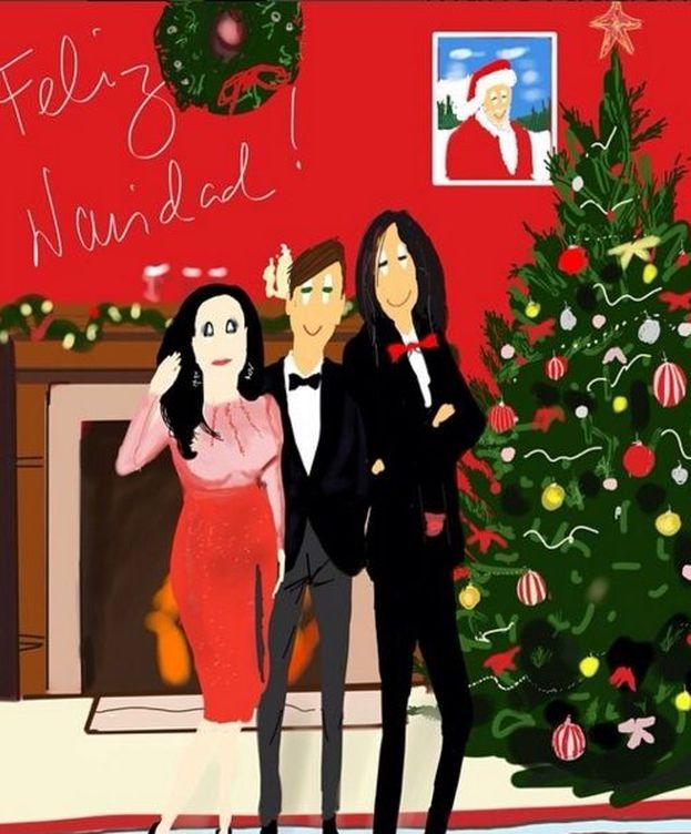 Foto: Alaska y Mario en su felicitación navideña (Instagram)