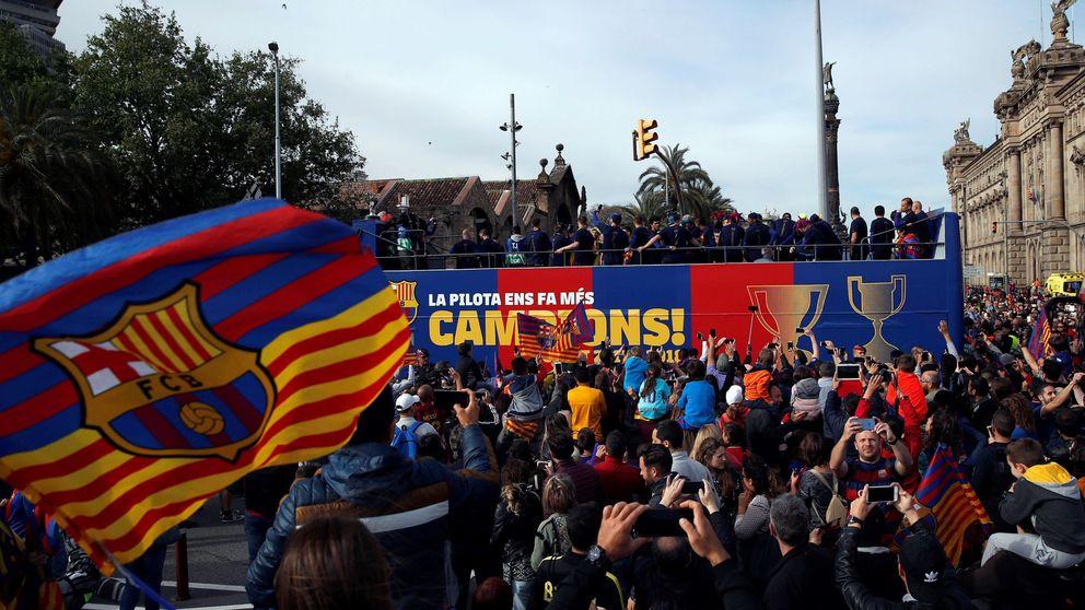La celebración del Barcelona que asustó al bailongo Yerry Mina